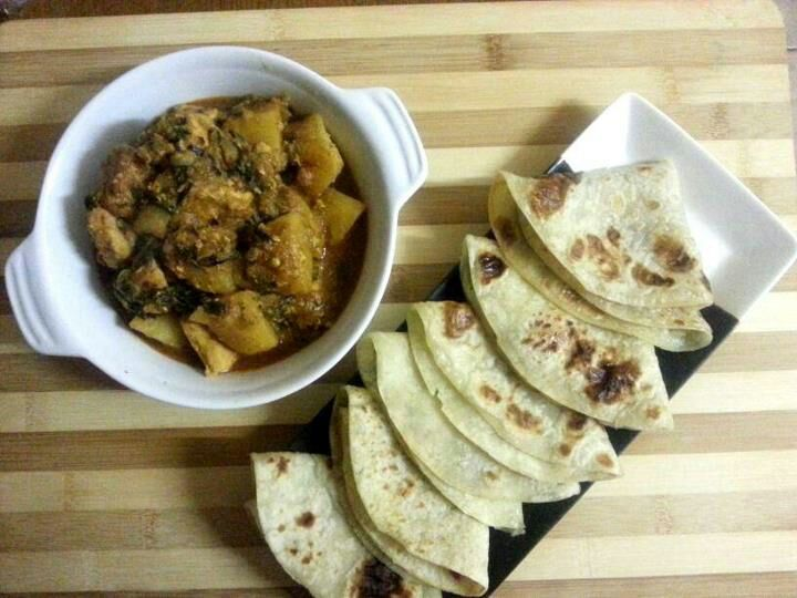 Methi Bhaji & Chicken with Roti - 30 minute meal!